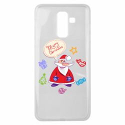 Чехол для Samsung J8 2018 Santa says merry christmas