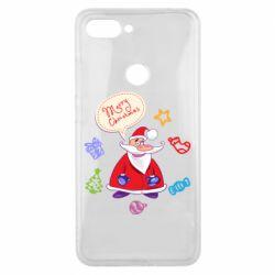 Чехол для Xiaomi Mi8 Lite Santa says merry christmas