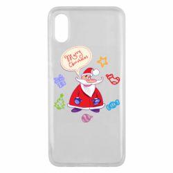 Чехол для Xiaomi Mi8 Pro Santa says merry christmas