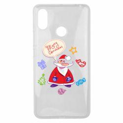 Чехол для Xiaomi Mi Max 3 Santa says merry christmas