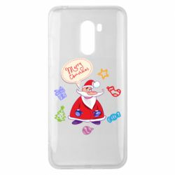 Чехол для Xiaomi Pocophone F1 Santa says merry christmas