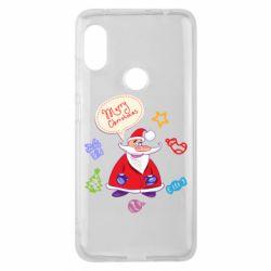 Чехол для Xiaomi Redmi Note 6 Pro Santa says merry christmas