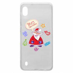 Чехол для Samsung A10 Santa says merry christmas