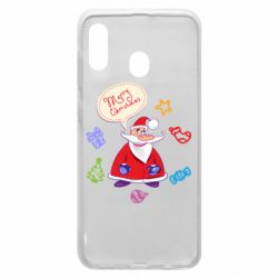 Чехол для Samsung A20 Santa says merry christmas