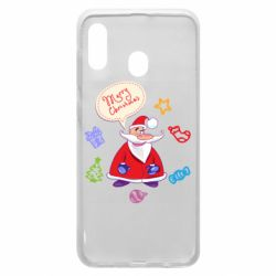 Чехол для Samsung A30 Santa says merry christmas