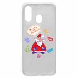 Чехол для Samsung A40 Santa says merry christmas