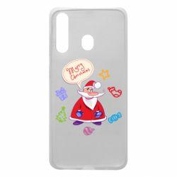 Чехол для Samsung A60 Santa says merry christmas