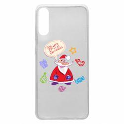Чехол для Samsung A70 Santa says merry christmas