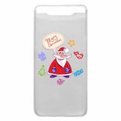 Чехол для Samsung A80 Santa says merry christmas