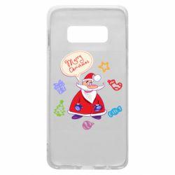 Чехол для Samsung S10e Santa says merry christmas