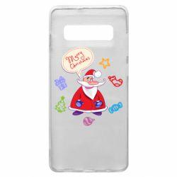 Чехол для Samsung S10+ Santa says merry christmas