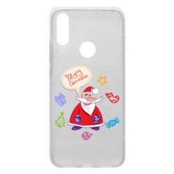 Чехол для Xiaomi Redmi 7 Santa says merry christmas