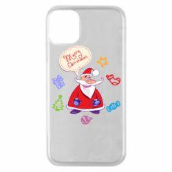 Чехол для iPhone 11 Pro Santa says merry christmas