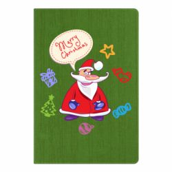 Блокнот А5 Santa says merry christmas
