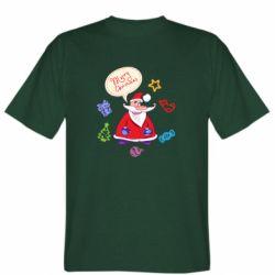 Мужская футболка Santa says merry christmas