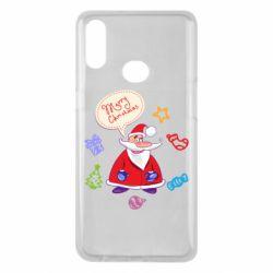 Чехол для Samsung A10s Santa says merry christmas