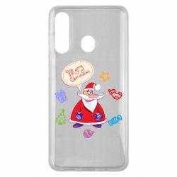 Чехол для Samsung M40 Santa says merry christmas