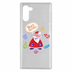 Чехол для Samsung Note 10 Santa says merry christmas