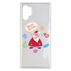 Чехол для Samsung Note 10 Plus Santa says merry christmas