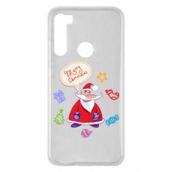 Чехол для Xiaomi Redmi Note 8 Santa says merry christmas