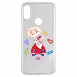 Чехол для Xiaomi Redmi Note 7 Santa says merry christmas