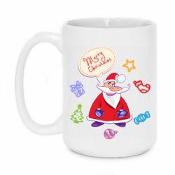 Кружка 420ml Santa says merry christmas