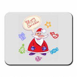 Коврик для мыши Santa says merry christmas