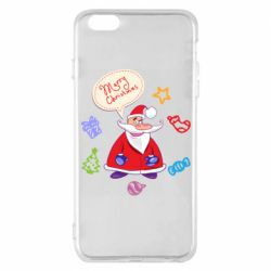 Чехол для iPhone 6 Plus/6S Plus Santa says merry christmas