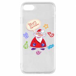 Чехол для iPhone 7 Santa says merry christmas