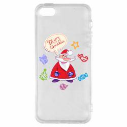 Чехол для iPhone5/5S/SE Santa says merry christmas