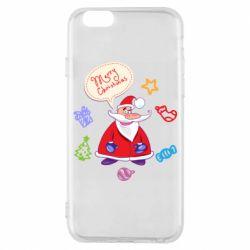 Чехол для iPhone 6/6S Santa says merry christmas