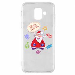 Чехол для Samsung A6 2018 Santa says merry christmas