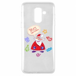 Чехол для Samsung A6+ 2018 Santa says merry christmas