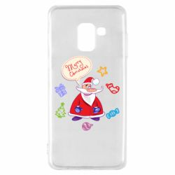 Чехол для Samsung A8 2018 Santa says merry christmas