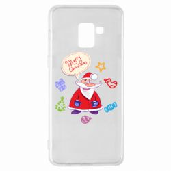 Чехол для Samsung A8+ 2018 Santa says merry christmas
