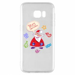 Чехол для Samsung S7 EDGE Santa says merry christmas