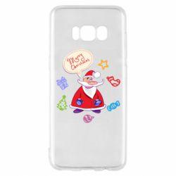 Чехол для Samsung S8 Santa says merry christmas