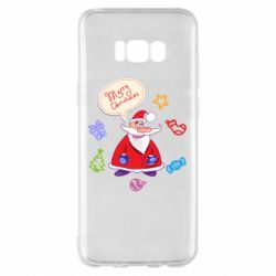 Чехол для Samsung S8+ Santa says merry christmas