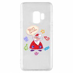 Чехол для Samsung S9 Santa says merry christmas