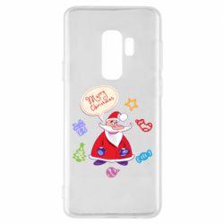 Чехол для Samsung S9+ Santa says merry christmas