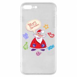 Чехол для iPhone 8 Plus Santa says merry christmas