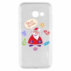 Чехол для Samsung A3 2017 Santa says merry christmas