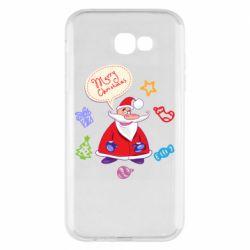 Чехол для Samsung A7 2017 Santa says merry christmas