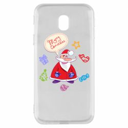 Чехол для Samsung J3 2017 Santa says merry christmas