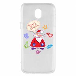 Чехол для Samsung J5 2017 Santa says merry christmas