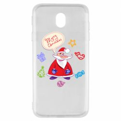 Чехол для Samsung J7 2017 Santa says merry christmas