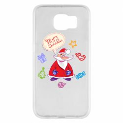 Чехол для Samsung S6 Santa says merry christmas