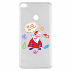 Чехол для Xiaomi Mi Max 2 Santa says merry christmas