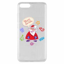 Чехол для Xiaomi Mi Note 3 Santa says merry christmas