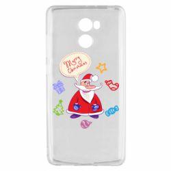 Чехол для Xiaomi Redmi 4 Santa says merry christmas